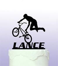 Personalised  BMX Acrylic Cake Topper