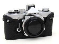 Leather Olympus OM1, 2, 3, 4 Black with Black Stitching Half Case - BRAND NEW