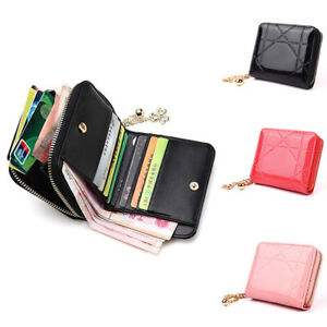 Womens Short Small Money Purse Wallet Ladies PU Leather Folding Coin Card Holder