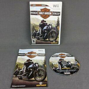 Harley Davidson Road Trip Nintendo Wii Video Game 2010 Complete Tested