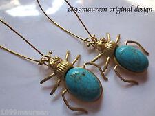 Art Deco earrings Art Nouveau Egyptian Revival vintage style scarab statement