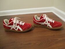 Rare Classic Used Worn Size 9 Asics Top Seven Shoes Argentina Red White Gum