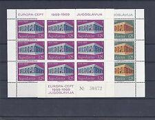 Cept 1969 ** 1361-2 II  Kleinbogen Jugoslawien Postfrisch siehe scan