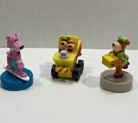 Vintage Wendy's 1990 Yogi Bear & Snagglepuss Figures PLUS Yogi & Boo Boo Car