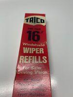 """Vintage Trico LP-16 Wiper Blade Refills 16 """"  2 Pack Windshield Wiper 1966"""
