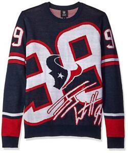 Houston Texans NFL Men's Forever Collectibles JJ Watt #99 Loud Player Sweater XL