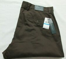 Perry Ellis Slim Stretch Chocolate Brown  Men pants 36 X 32