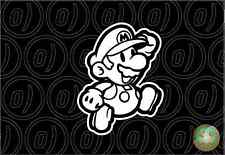 MARIO LEAPING DECAL Nintendo Sticker 150mmH Suit Wall art Car Ute Wii U Laptop