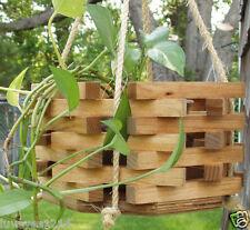 Stained Hexagon Octagon wood wooden bucket hanging planter plant Indoor/Outdoor