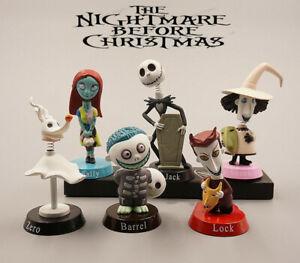 6Pcs/Set The Nightmare Before Christmas Jack Skellington Sally 3″ Figures Action