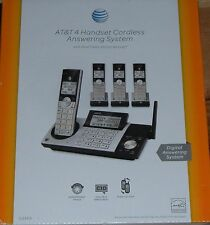 NEW AT&T DECT 6.0 CL83415 4-Handset Cordless Phone with Answering System