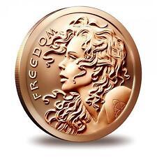 2016 Silver Shield Freedom Girl 1 oz .999 Copper BU Round USA Made Bullion Coin