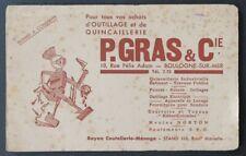 Buvard Quincaillerie P. GRAS & Cie Norton Kleber-Colombes Boulogne-sur-Mer 2