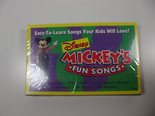 Disney MICKEY'S FUN SONGS Cassette Tape Promo Limited Edition NEW! SEALED!