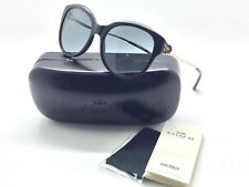 Coach Women Sunglasses HC8189F 530887 Black / Light Gold Frame Size 55-17-135