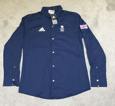 ADIDAS LONDON 2012 OFFICIAL TEAM GB NAVY SHIRT - MEN'S 38/40 - BRAND NEW