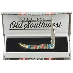 Rough Rider Old Southwest Baby Toothpick Pocket Knife RR1748 Red Blue