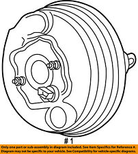 CHRYSLER OEM-Power Brake Vacuum Booster 5139152AA