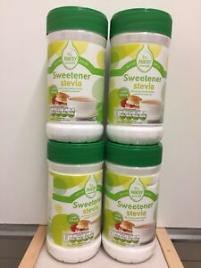 4 JAR STEVIA SWEETENER (75g Each) For Slimmers Diabetics Exp. Up To 2 Years