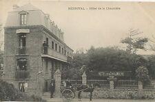CARTE POSTALE / MESNIVAL HOTEL DE LA CHAUMIERE / ATTELAGE DE CHEVAL