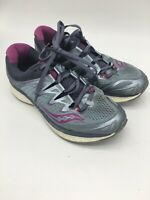 Saucony EVERUN Sneakers Womens, W Grey Purple Shoe Running Athletic, Size 8.5