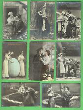 #D607. Nine German Imperial Sweatheart Postcards - About 1908