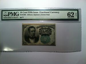 FR 1264 Fractional Currency Note PMG 62 Net