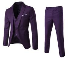 New Men's Premium Smart Fit Tux 3 Pieces Suit Jacket Waistcoat & Trouser Wedding