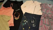 womens clothing lot beautiful tops skirts jewelry slacks size 12 m l