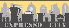 AS Creation Coffee Expresso City Black/Grey/Yellow Border Wallpaper (2378-28)