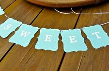 LOVE IS SWEET banner -OCEAN -bunting flags/garland-decoration - sign