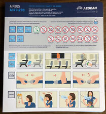 Aegean Airlines Airbus A320 new version safety card