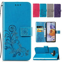 For LG Stylo 5 6 Magnetic Flip Leather Patterned Billfold Shockproof Case Cover