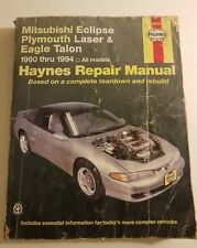 Haynes Automotive Repair Manual Mitsubishi Eclipse Plymouth Laser Talon 1990-94