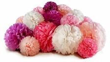 Voplop Paper Pom Poms 20 pcs of 8, 10, 14 Inch Paper Flowers Perfect For Wedding