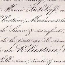 Anastasia De Klustine Adolphe De Circourt Paris 1863