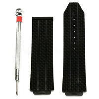 24mm Replacement Silicone Rubber Watchband Strap For Hublot Big Bang