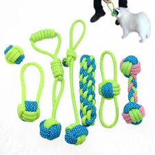 Dog Chew Toys for Aggressive Chewers Interactive Cotton Braided Playing Ball Tug
