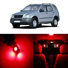 17 x Super Red LED Interior Light Package For 1998-2005 Mercedes ML Class W163