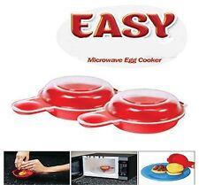 1set/2pcs Microwave Egg Cooker Safe Breakfast Sandwish Bacon Egg Cheese Maker LD