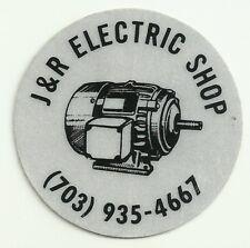J&R Electric Shop Virginia Vintage Unused Hard Hat Decal Sticker