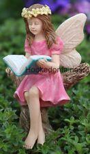Miniature Abigail Reading Fairy 0126  Fairy Garden Diorama