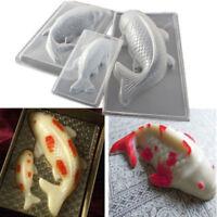 3D Fish Fandant Cake Chocolate Mould Plastic Koi Jelly Handmade Sugarcraft Mold