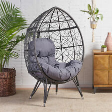 Keondre Indoor Wicker Teardrop Chair with Cushion