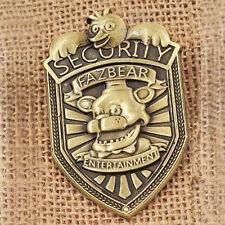 Alloy Five Nights at Freddy's FNAF Fazbear Security Badge Pin AU