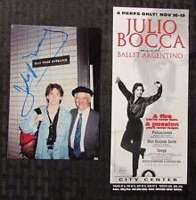 JULIO BOCCA Signed Autograph 4x6 Photo & Ad w/ COA VF 8.0 Ballet