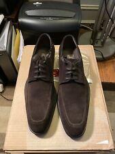 $595 Nwob Authentic Salvatore Ferragamo Brown Suede Laceups 11.0 D (Medium)