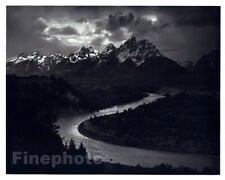 1949 Original ANSEL ADAMS Grand Tetons Snake River Landscape Photo Art 12X16