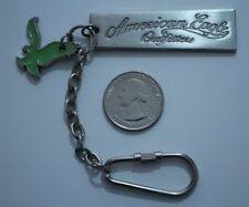 American Eagle Outfitters Silver Metal Green Eagle Logo Key Chain Keyring Charm