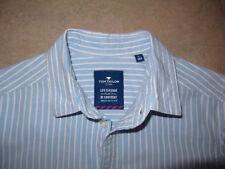 Hemd Tom Tailor Gr. L / 164 für Jungen  blau/weiß gestreift, kurzarm